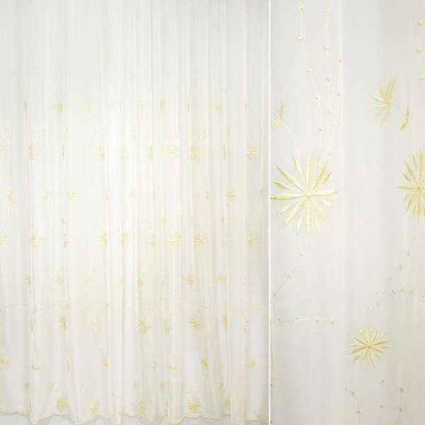 Гардина  вуаль  выш.  желтые  цветы