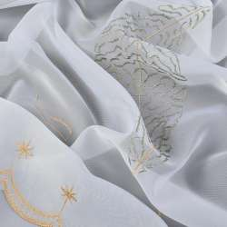 Вуаль  белая  с  вышивкой  болот.  дерево