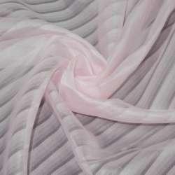 Вуаль розовая в полоску ш.275