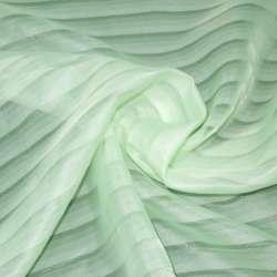 Вуаль салатовая бледная в полоску ш.275