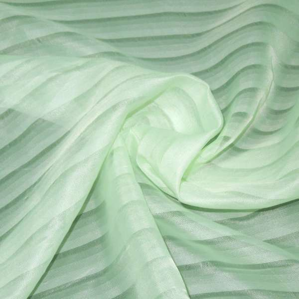 вуаль блідо-салатова в смужку ш.275