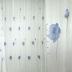 вуаль біла з синіми кольорами ш.275