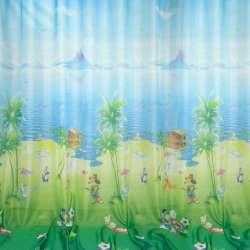 вуаль фото зелено-блакитна з Дісней.персон. ш.270