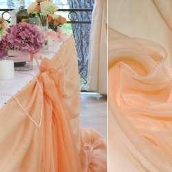 вуаль гладкая персиковая ш.280