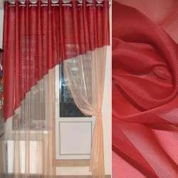 вуаль гладкая красная ш.275