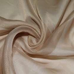 вуаль гладкая бежево-коричневая ш.280