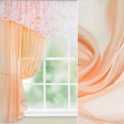 вуаль гладкая оранжево-молочная ш.280
