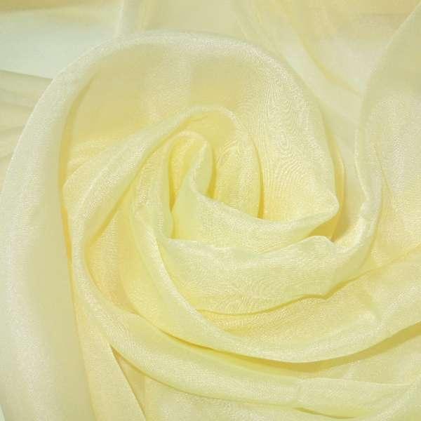 вуаль гладкая бледно-желтая ш.280