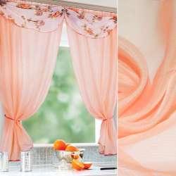 вуаль гладка персикова з троянд. відлив. ш.280