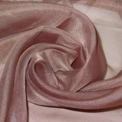 вуаль гладкая коричнево-розовая ш.280