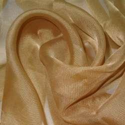 вуаль гладкая коричнево-желтая ш.280