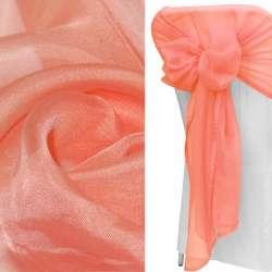 вуаль гладкая кораллово-розовая ш.280