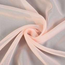 вуаль гладка персикова з рожевим відтінком ш.280