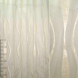 Органза орари золотистая светлая с вьющимися полосами ш.280