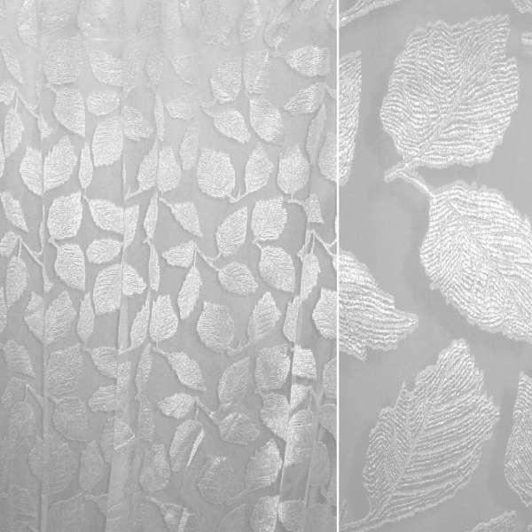 органза-орари белая с большими листьями ш.280