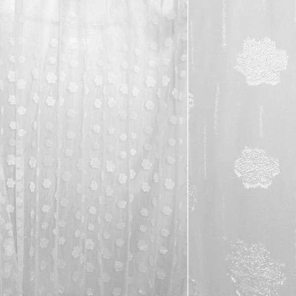 Органза орарі біла з атласним квіткою ш.280