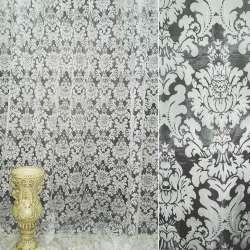 Органза деворе белая с цветами ш.280