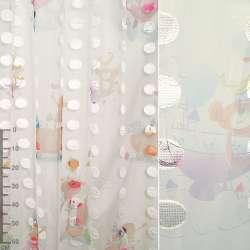 Органза орарі біло-блакитна, білі атласні овали, діти ш.280