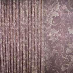 Кристалон бордовый с декор.тюльпанами ш.265