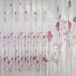 Крісталлон білий з вишневими трояндами ш.270