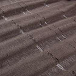 Льон гардинний з мережкою коричневий темний, ш.300