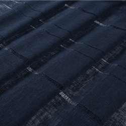 Льон гардинний з мережкою синій темний, ш.300