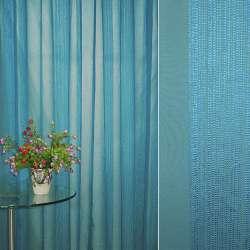 льон француз. блакитний з вузькими атласними. смуг. ш.275
