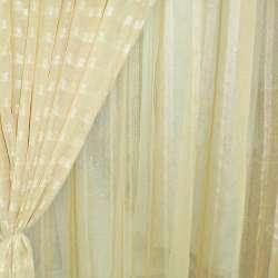 Лен французский золотистый с узкими атласными полосами ш.280