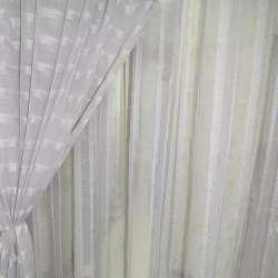Лен французский серый светлый с узкими атласными полосами ш.280