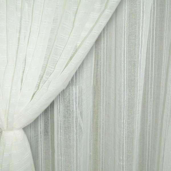 лен француз. белый с крученными полосками ш.280