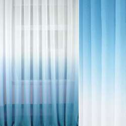 Льон гардинний омбре блакитний / білий, ш.280