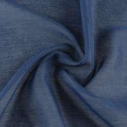 Лен французский гардинный синий, ш.300