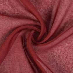 Льон французький бордовий рисочки ш.280