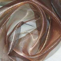Кристалл-органза коричневая с золотым отливом хамелеон ш.280