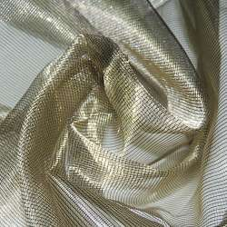 Кристалл-органза бежевая темная с золотым отливом хамелеон ш.280