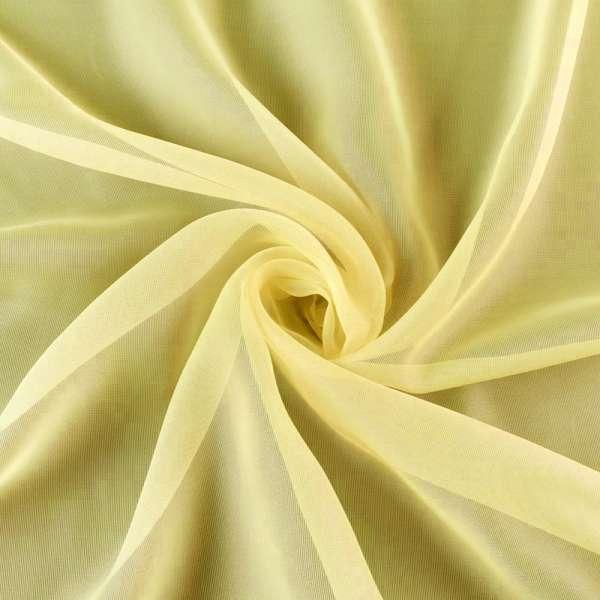 Органза жовта гладка