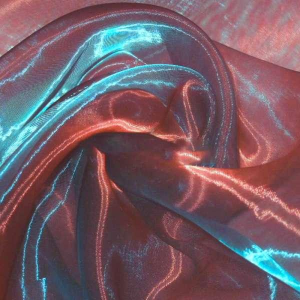 органза гл. бордовая с синим отливом, ш.280