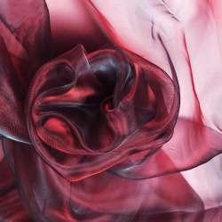 Органза красная темная с черным отливом ш.280