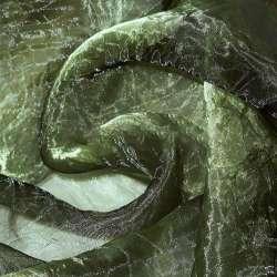 Органза жатая зеленая темная ш.275