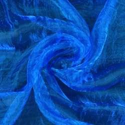 Органза жатая ярко-синяя ш.270