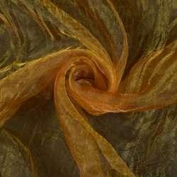 Органза жатая рыжая с темно-красным отливом ш.270