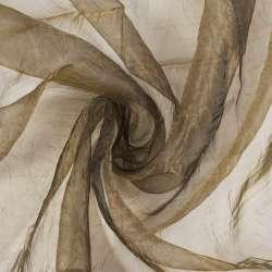 Органза жатая коричнево-серая хамелеон ш.275
