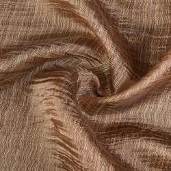 Органза жатая табачная с густой шелковой нитью