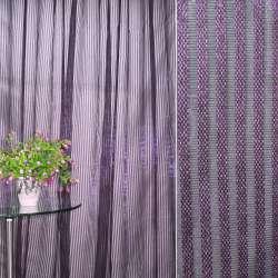 Органза-сетка сливовая в полоску ш.280