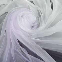 Органза-радуга бело-фиолетовый ш.275