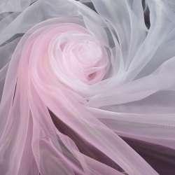 Органза-радуга бело-розовая ш.275