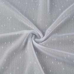 Вуаль тюль з штрихами дощик білий з обважнювачем, ш.300