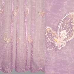 Органза фіолетова з метеликами