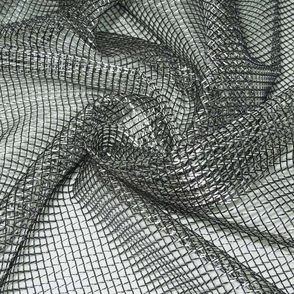 Сетка крупная серебристо-черная ш.280