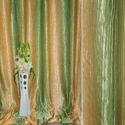 """атлас жатый бежево-желтый+оливковый """"радуга"""" ш.275"""
